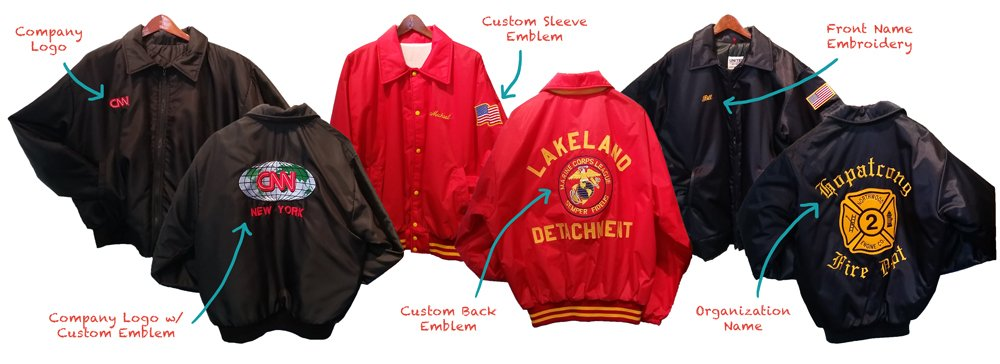 Main features of the Varsity Jackets