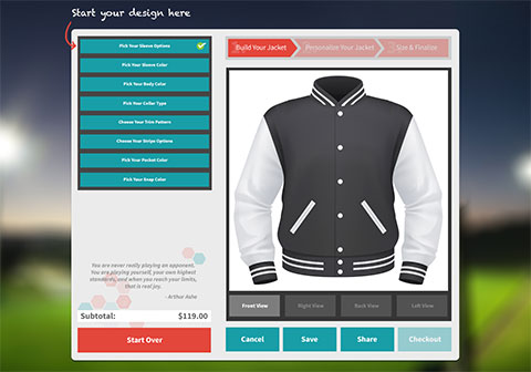 High School Letterman Jackets Customize Your Own Sports Jacket