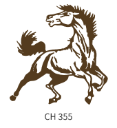 mascots-emblem-white-brown-horse
