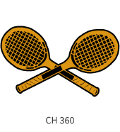 tennis-emblem-gold-black-two-crossed-bats