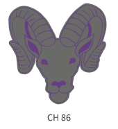 mascots-emblem-grey-purple-deer-face