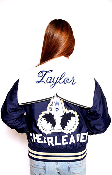 Back view of the Lightweight Varsity Jacket by UnitedSportApparel